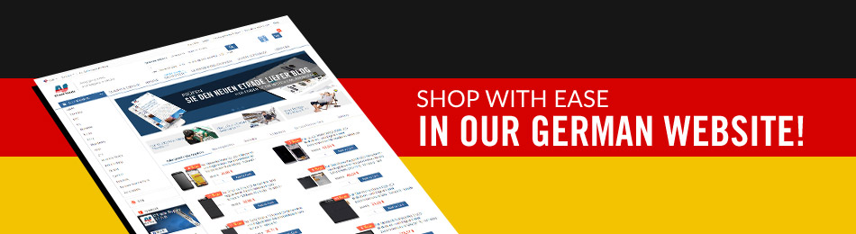Shop With Ease in Our German Website!